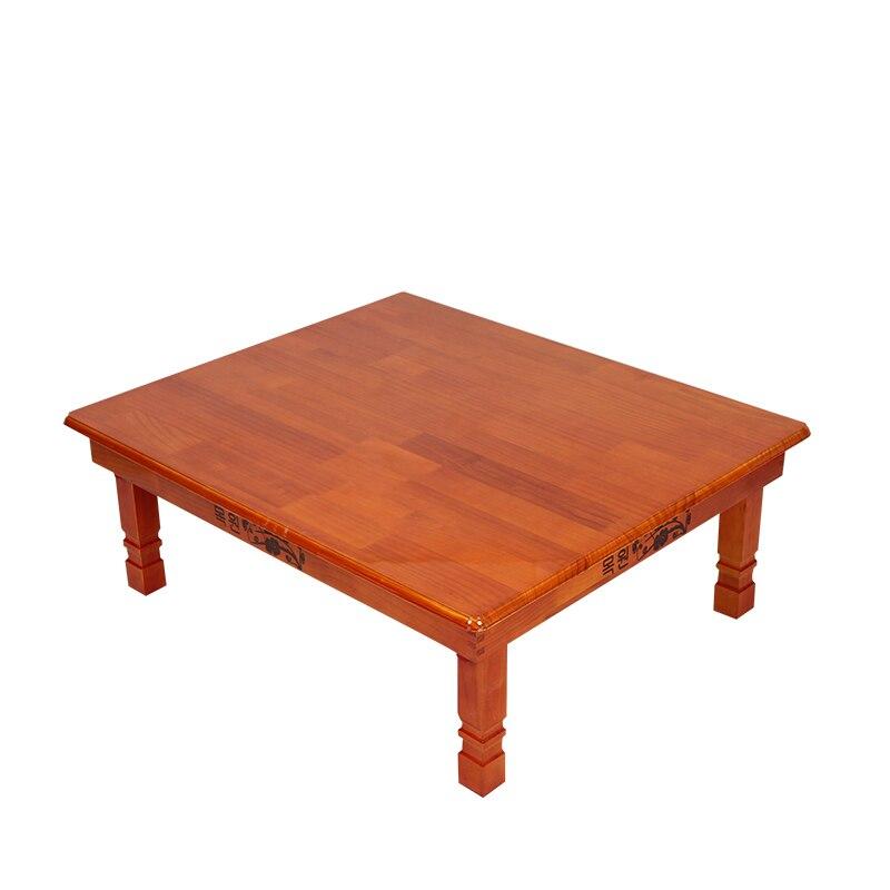 137 19 Meubles En Bois Coreen Table A Manger Pliante Jambe Rectangle 90 80 Cm Meubles De Maison Asiatique Antique Plancher Basse Table A Manger En