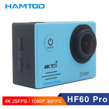 hot deal buy hamtod hf60 pro 4k wifi action camera 2.0 inch lcd display  diving waterproof mini camcorder sports cameras 120 degree camera