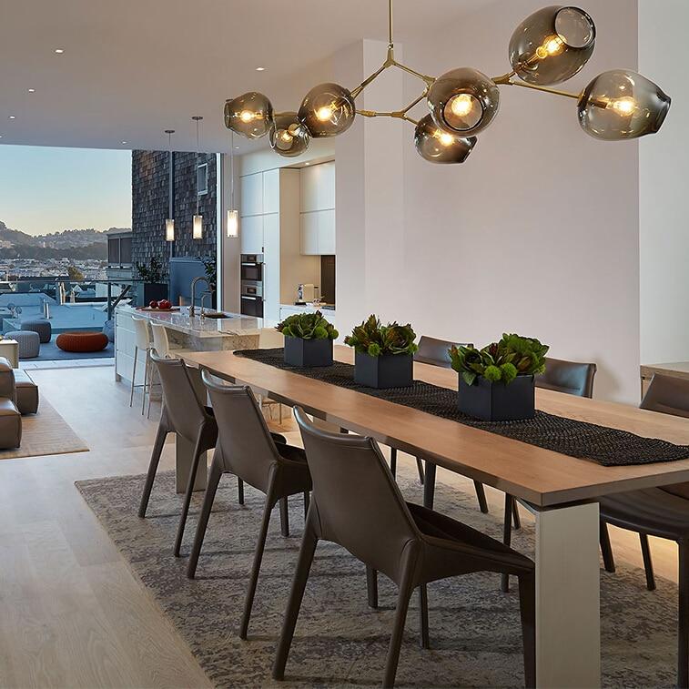 € 40.87 33% de réduction|Vintage Loft industriel suspension lumières noir  or Bar escalier salle à manger verre abat jour suspension luminaire ...