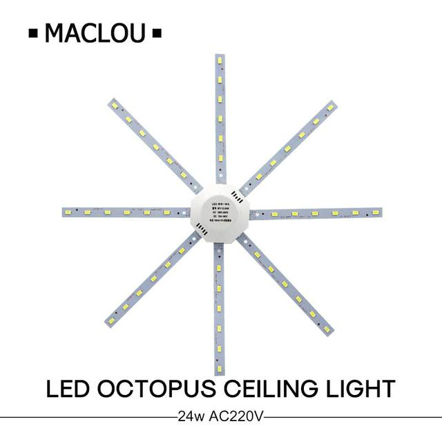 24W LED Ceiling Lamp Board Light 5730SMD Octopus Light 220V Energy Saving Expectancy Indoor Lamp Bedroom Living Room light