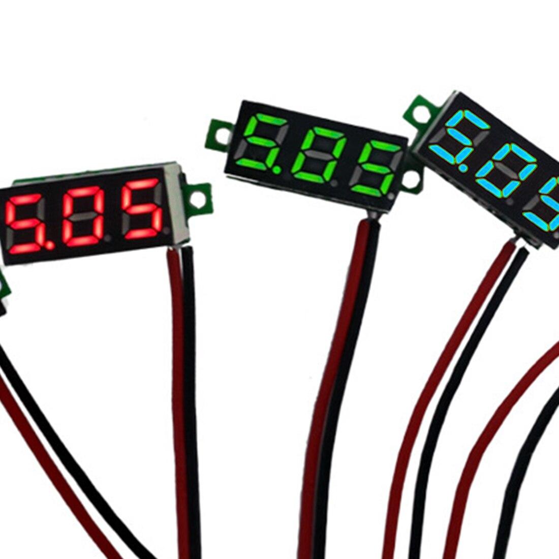 Mini Digital Voltmeter Voltage Tester Meter 0.28 Inch 2.5V-30V LED Screen Electronic Parts Accessories Digital Voltmeter Hot