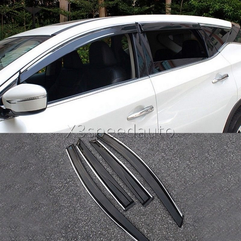 For Nissan Murano 2015-17 Window Visor Vent Sun Rain Deflector Guard 4pcs Car-styling
