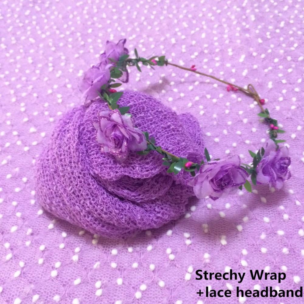 Strechy Wrap+lace headband