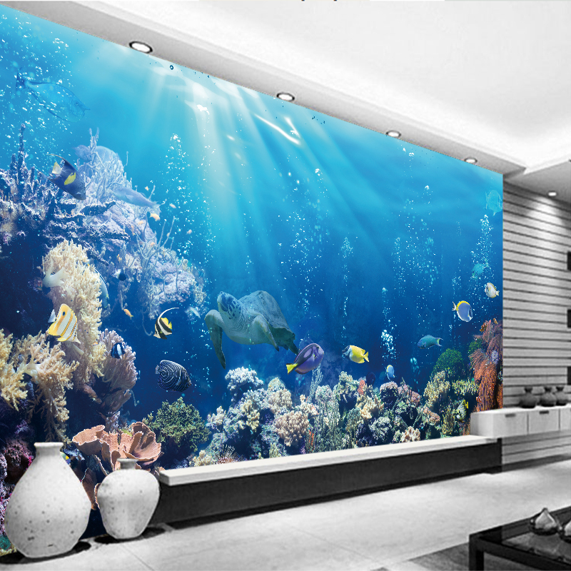 Shark Silhouette Underwater Art Print Home Decor Wall Art Poster E