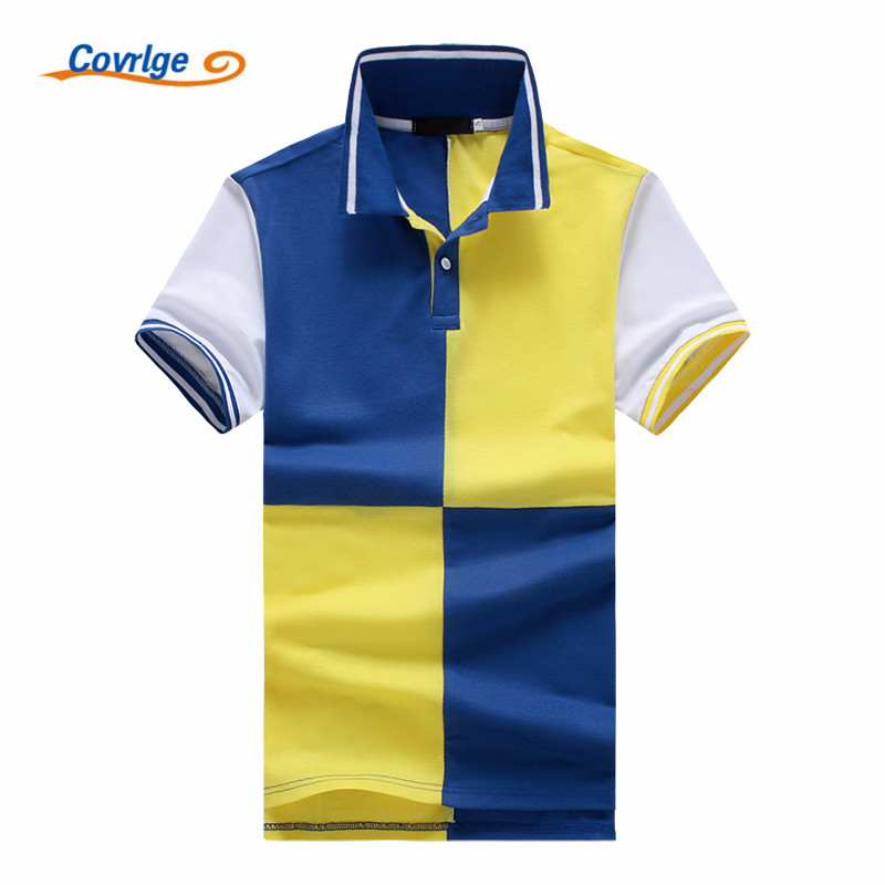 Covrlge 2018 Fashion Clothing New Men Polo Shirt Men Business & Casual Solid Male Polo Shirt Short Sleeve Breathable Polo MTP063