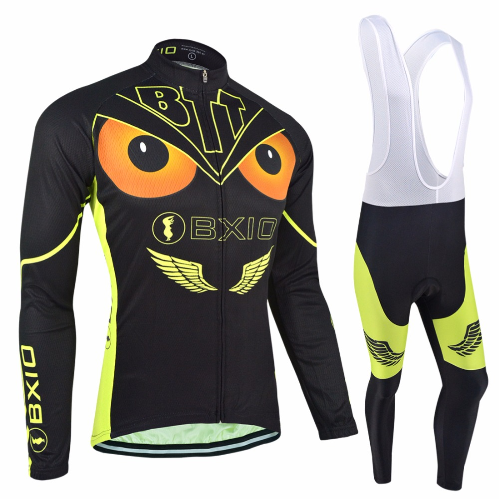 ФОТО Bxio Eagle Style Cycling Sets Winter Thermal Fleece Pro Bicycle Clothing Multi Color Ropa Ciclismo Outdoor Mtb Bike Jersey 036
