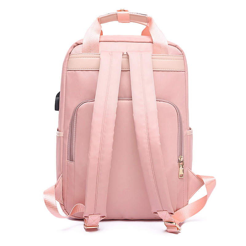 Image 5 - Waterproof Laptop Backpack Female Fashion Girl Backpack 13 13.3 14 15 15.4 15.6 inch Back pack Women men Oxford cloth Black Pink-in Laptop Bags & Cases from Computer & Office