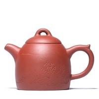 140ML Purple mud handmade Qin Quan teapot yixing kettle gift box drinkware suit tieguanyin dahongpao