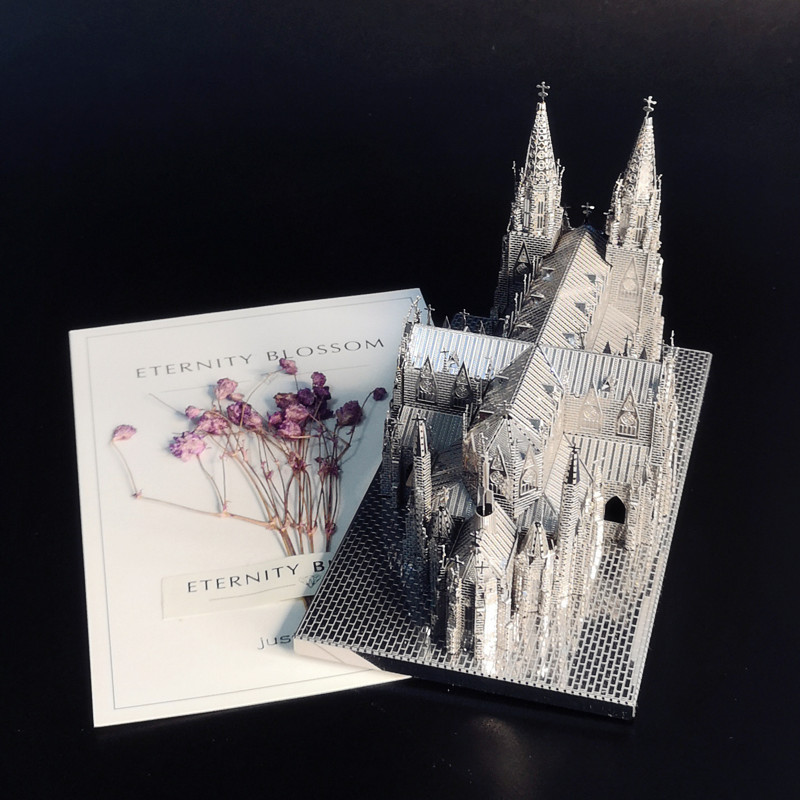 HK NANYUAN ST.PATRICK'S CATHEDRAL 3D Puzzle Metal Assembling Model Home Furnishing Ornaments Diy Architecture