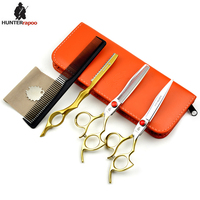 30% Off 6 inch Professional Barber Scissors kit Hair cutting scissor thinning shear with adjustable screw For hairdressing salon
