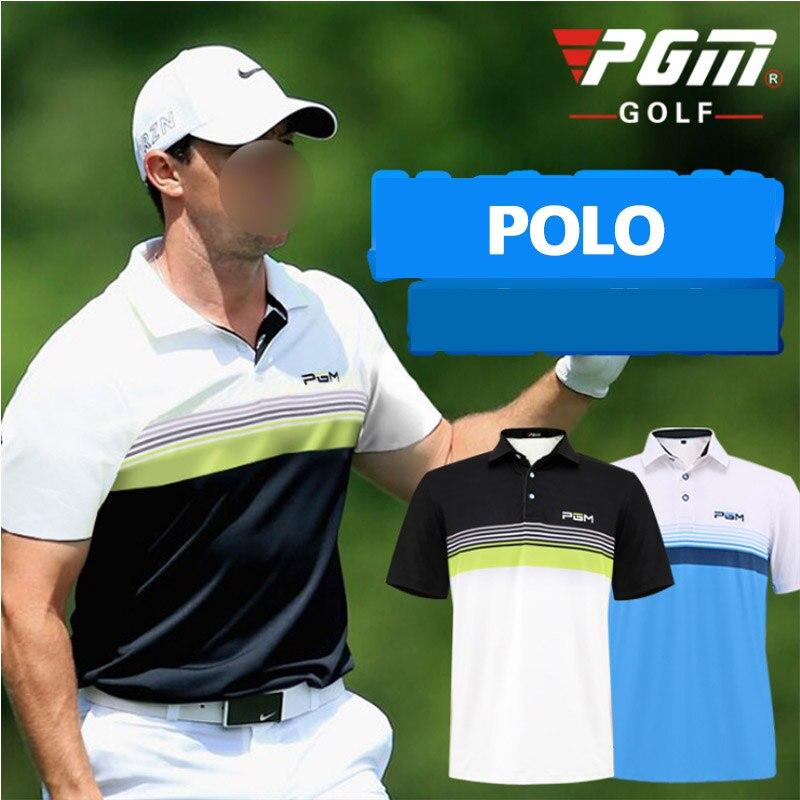 Brand POLO Man Short Shirt for Men Golf Sport shirt Turn-down Collar Jersey Male Summer Horizontal stripes T-shirt M L XL XXL