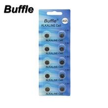 Buffle 10pcs 60mAh Capacity Button Coins Batteries G5 AG5 393A LR754 SR754W