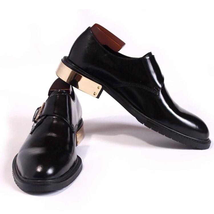 Derby Mano Reunión Cordones Hecho A Piel Vestir Negro Transpirable Los Suela Zapatos De Becerro Zapato Hombres Cuero FR6aa5wq