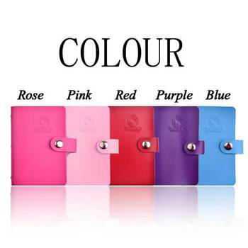 1pcs 20slots For Nail Stamping Plate Package Rectangle Nail Art Equipment Pink/Purple/Red/Rose/Blue Manicure Tools Nail Supplies