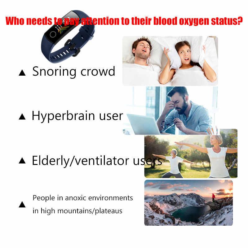 HONOR Band 5 Смарт-браслет Оксиметр крови кислород цветной экран полный сенсорный датчик сердечного ритма Обнаружение инсульта сна для xiaomi