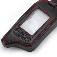Tomahawk TZ9010 Remote Two Way Car Alarm leather Case Cover keyChain For Tomahawk TZ9010 TZ9030 LCD Remote