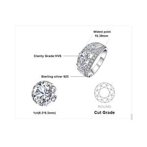 Image 5 - Bijoux palace 3 pierres CZ bague de fiançailles 925 en argent Sterling anneaux pour les femmes anniversaire anneau de mariage anneaux argent 925 bijoux