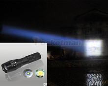 Ultra Bright CREE XML-T6 2400Lumens Zoomable LED Flashlight For 3xAAA