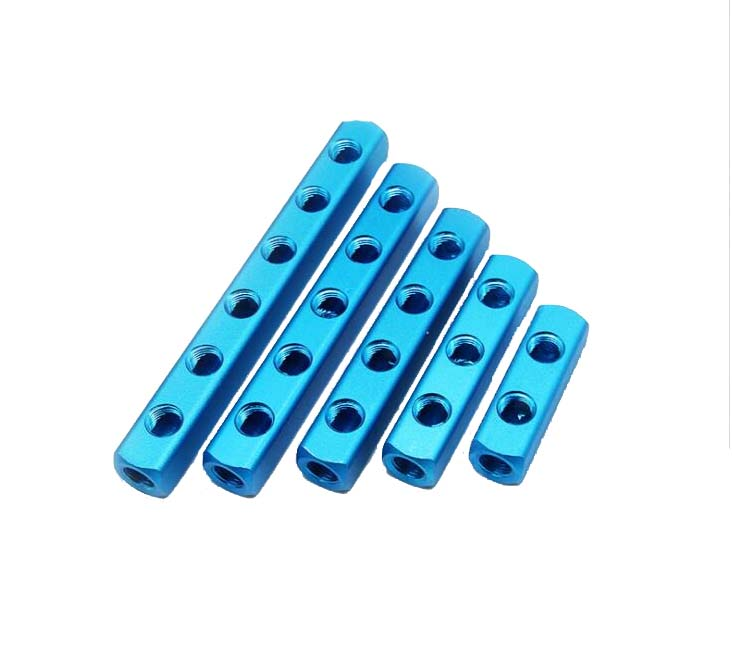 1Pcs 1/4 Pneumatic fittings PT Thread Port 2 3 4 5 6 7 8 9 Way Quick Connector Air Hose Aluminum Manifold Block Splitter 10 x pneumatic 10mm to 3 8 pt male thread 90 degree elbow pipe quick fittings
