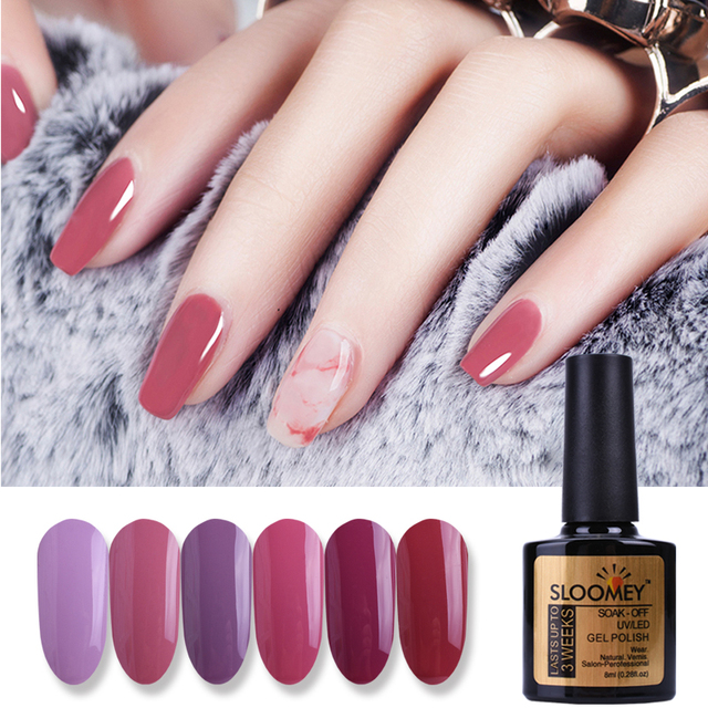 Sloomey 8ml Gel 3d Nail Design Red Bean Paste Colors Summer Color