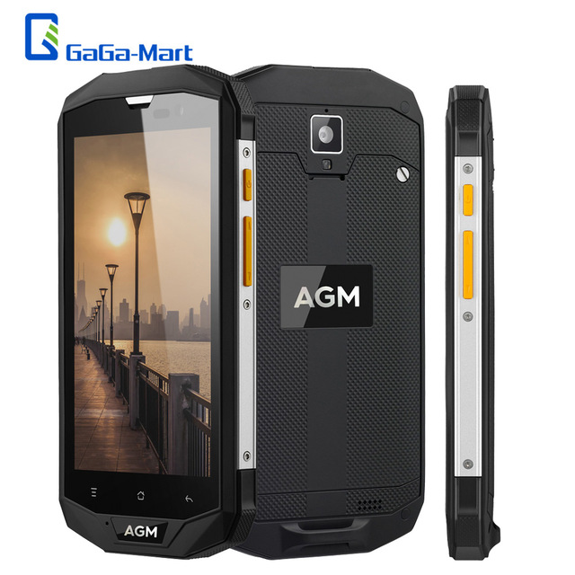 """New AGM A8 IP68 Waterproof Smartphone Android 5.1 Qualcomm MSM8916 Quad Core 3GB+32GB 13.0MP 4050mAh 5.0"""" inch 4G Mobile Phone"""