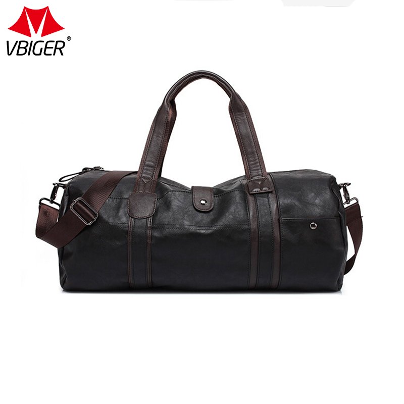 Vbiger Oil Wax Leather Handbags For Men Large-Capacity Portable Shoulder Bags Men's Fashion Travel Bags Package safebet brand high quality pu leather handbags for men large capacity portable shoulder bags men s fashion travel bags package