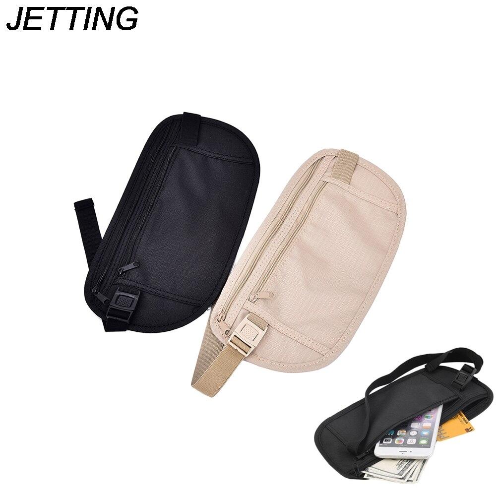 HOT 1pc Pouch Money Security Purse  25.8*13.5 Cm Travel Storage Bag Waist Pack Cards Passport Waist Belt Tickets Bag