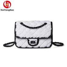 Women Fashion Fluffy Plush Mini Flap Bag Leather Crossbody Single Shoulder Luxury Woman Designer Messenger Lady Party Chain Bags