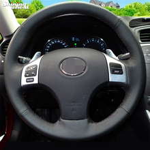 Shining Black Leather Steering Wheel Cover for Lexus IS IS250 IS250C IS300 IS300C IS350 IS350C F