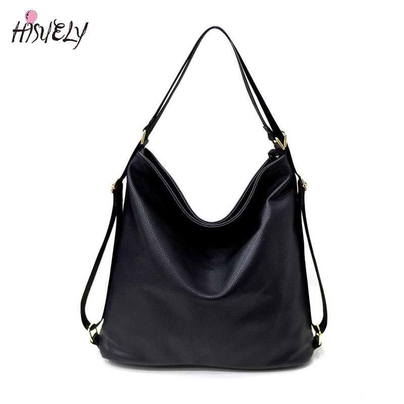High Quality Women Artificial Leather Shoulder Bag Female Big Handbag Black Color New Arrival  Designer ladies Totes Bags Hobos 2018 new women bag ladies shoulder bag high quality pu leather ladies handbag large capacity tote big female shopping bag ll491