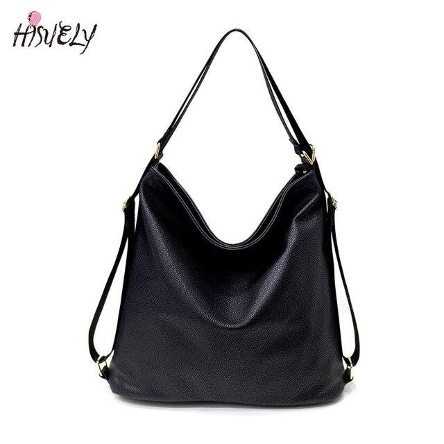 da8590e7631 High Quality Women Artificial Leather Shoulder Bag Female Big Handbag Black  Color New Arrival Designer ladies