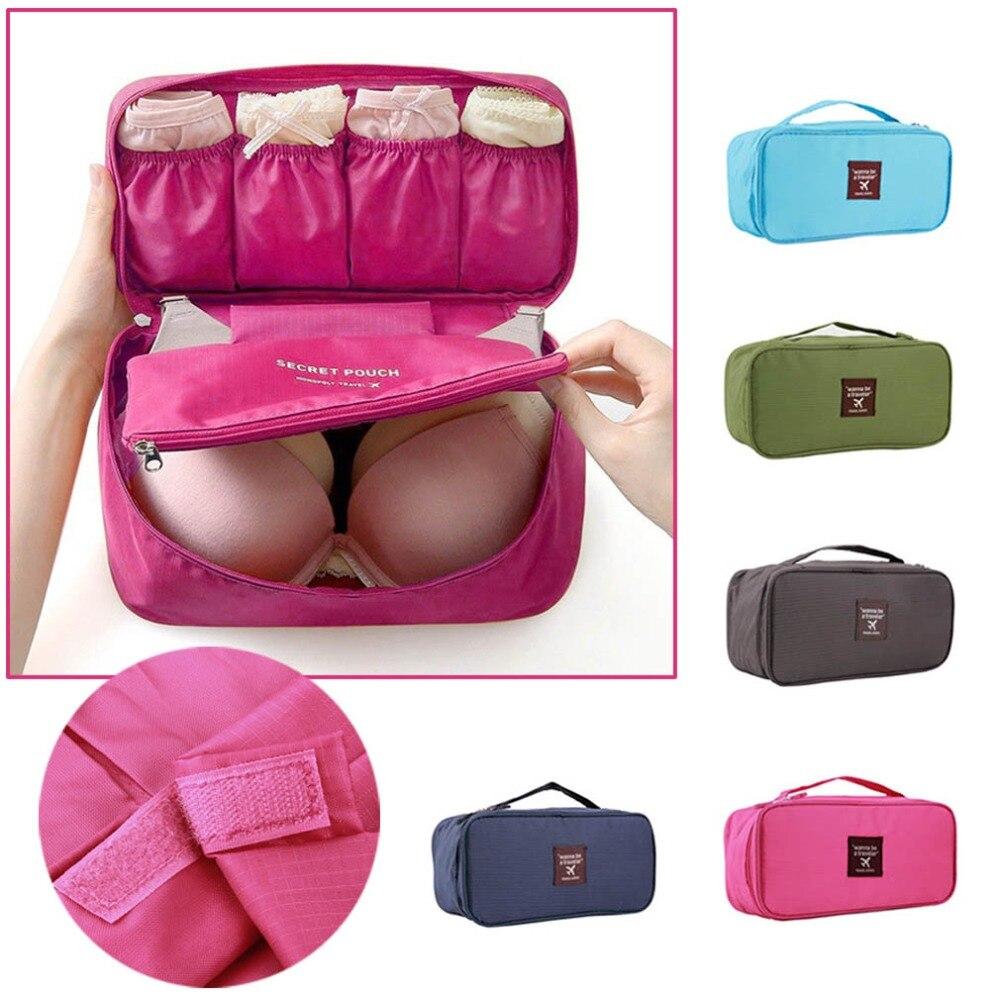 1Pc Bra Underwear Lingerie Travel Bag for Women Organizer Trip Handbag Luggage Traveling Bag Pouch Case Suitcase Space Saver Bag