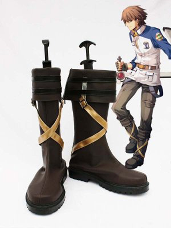 The Legend of Heroes Zero no Kiseki Lloyd Bannings Halloween Cosplay Boots Shoes Anime Party Cosplay Boots Adult Men Shoes