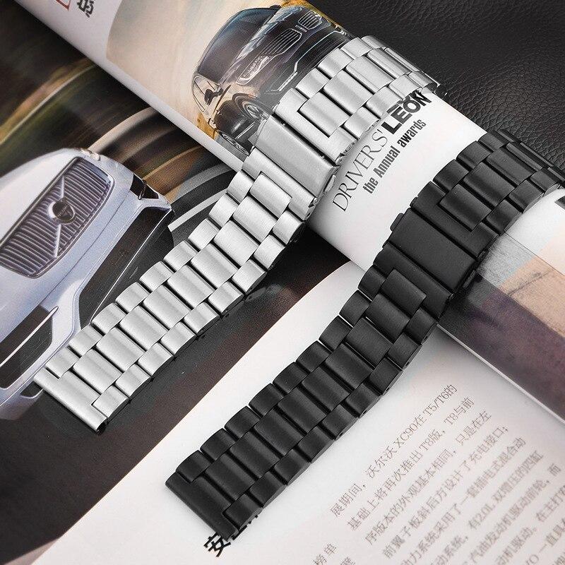16mm 18mm 20mm 22mm 24mm Stainless Steel Watch band Strap Bracelet Watchband Wristband Folding Black Silver Black Metal Belt16mm 18mm 20mm 22mm 24mm Stainless Steel Watch band Strap Bracelet Watchband Wristband Folding Black Silver Black Metal Belt