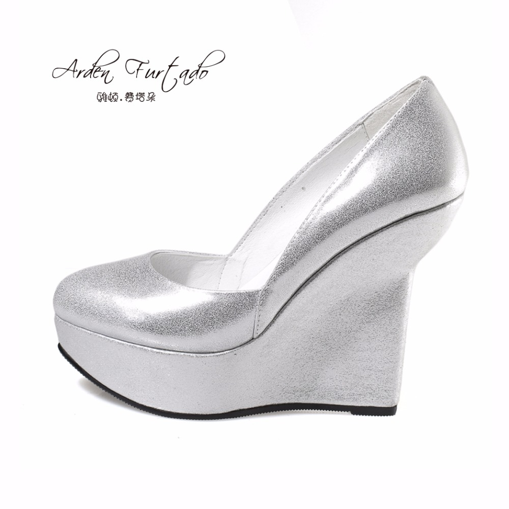 6d4b0bd7d Creepers Extreme Ladies 12cm 5 Inch Pumps Harajuku Casual White Wedge Shoes  Hidden High Heels Round ...