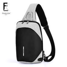 FENRUIEN сумка через плечо для мужчин сумка-мессенджер на груди Сумка-пакет повседневная сумка дорожная непромокаемая сумка на одно плечо сумка на плечо 2018 Новая мода