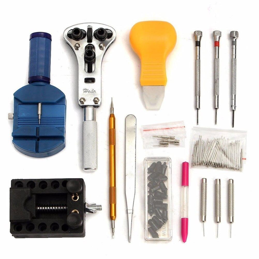 Horloge Reparatie gereedschap set 144-delig reparatie Tool Kit Case 4