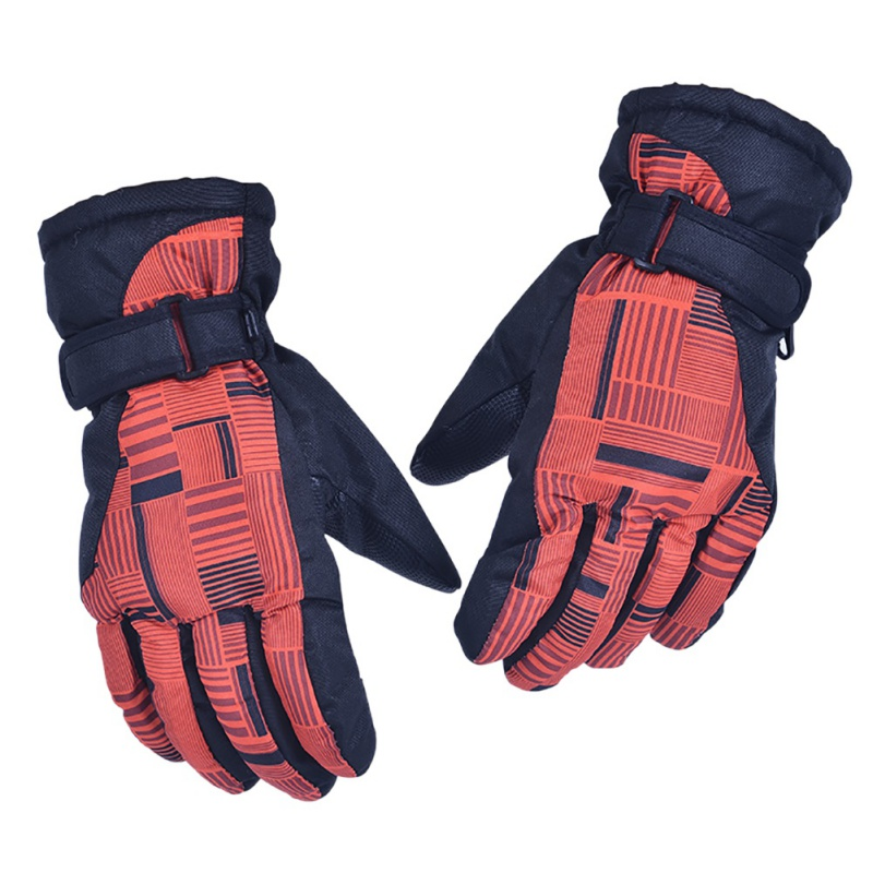 6 colors sags and crests Outdoors skiing gloves women style high quality black-red Full finger