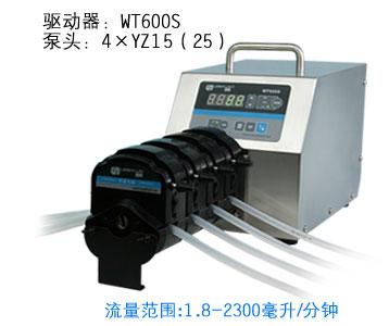 WT600S 4XYT15 большой расход Регулируемый Насос Перистальтический промышленные лаборатории дозирования трубки перистальтического насоса 1.8 2300