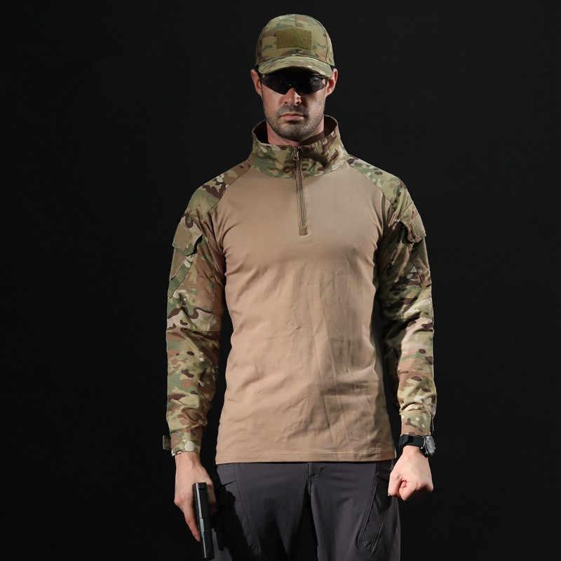 קלאסי קרב אמריקאי אחיד צבאי חולצה ארוך שרוול חולצות הסוואה צבע מרובה Airsoft פיינטבול טקטי חולצה