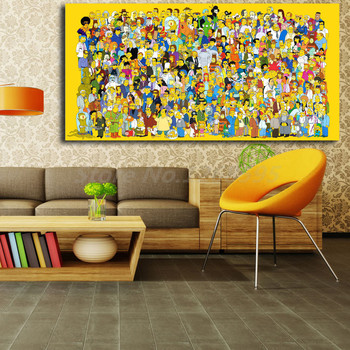 The Simpsons Family Hd Wallpapers For Living Room Home Decor The