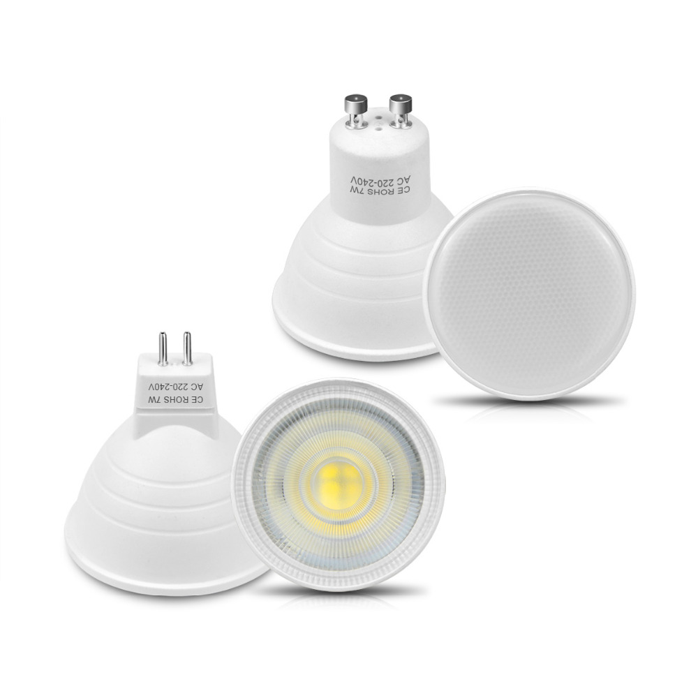 Lights & Lighting Generous High Quality 7w Led Bulb Gu10 Mr16 Led Spotlight 220v Cob Chip Beam Angle 120/30 Plastic Aluminum Cool Spot Light Home Lighting
