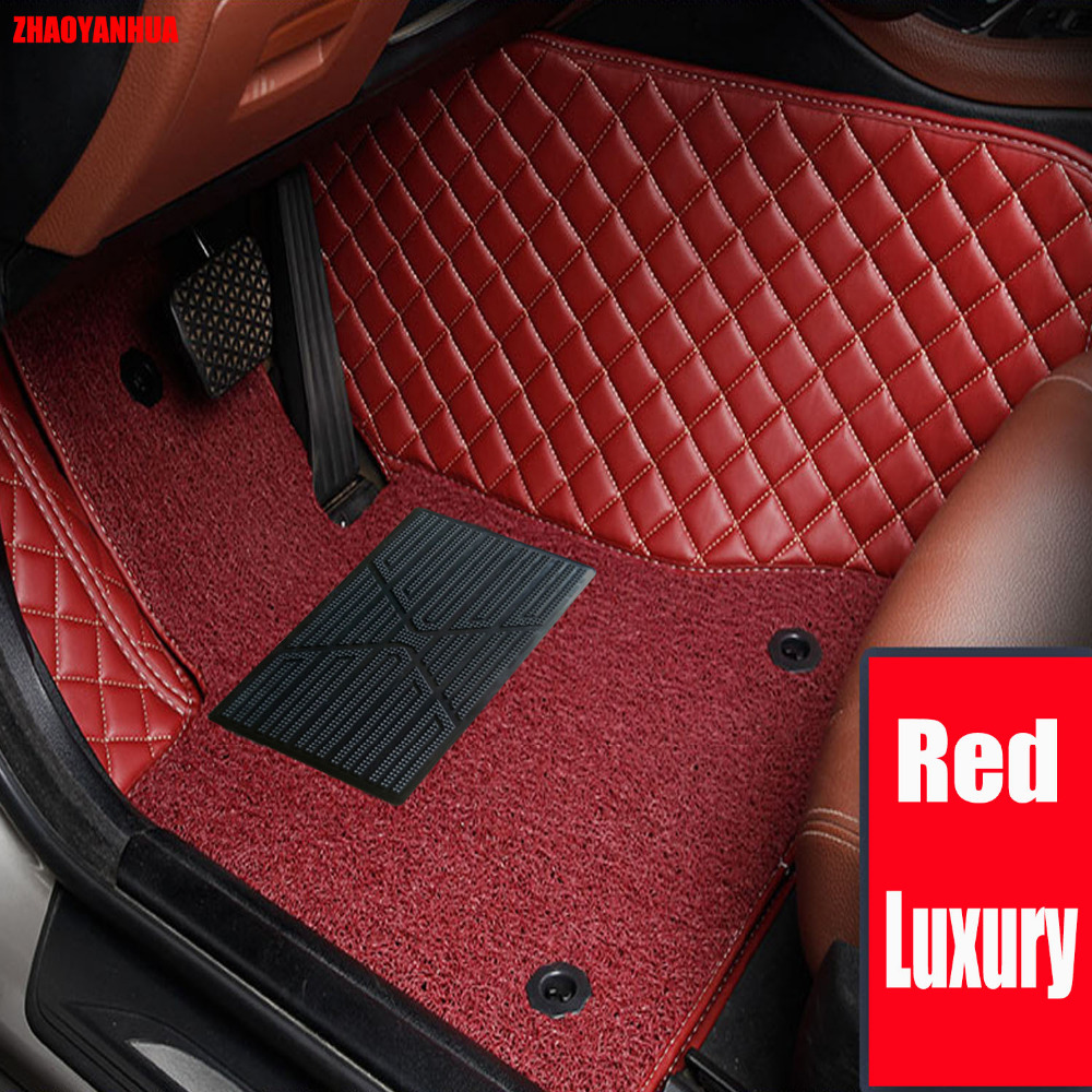 Custom make car floor mats for Mercedes Benz M <font><b>ML</b></font> GLE class W164 <font><b>W166</b></font> 250 300 320 <font><b>350</b></font> 400 450 500 550 rugs car styling carpet image
