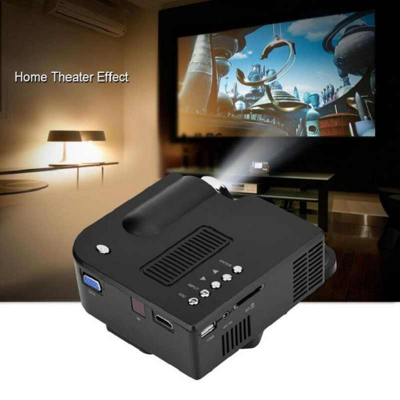Portable UC28+ Mini  1080P HD Projector Home Cinema Theater Upgraded HDMI Interface Home Entertainment Device Multimedia Player