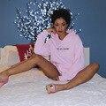 Unisex Anti social social club Sweatshirts Hoodies Hip Hop Kanye West yeezy season 3 ASSC Pink Hoody For Autumn and Winter