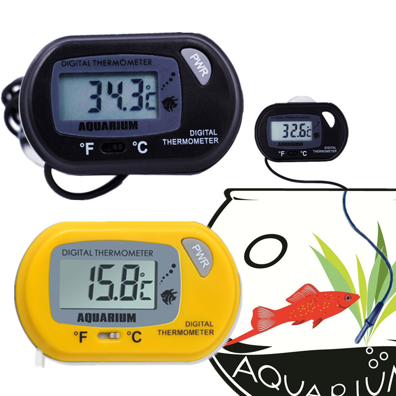 100pcs/lot by DHL FEDEX digital small electronic thermometer Marine Vivarium Thermometer with Suction Cup Fish Tank Aquarium10% 1