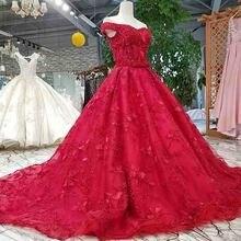 Plissado vermelho vestido de noite querida rendas flores lace up voltar A Linha de vestido formal vestido de festa fotos reais