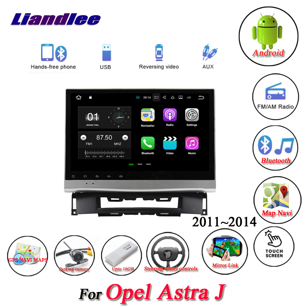 Liandlee Car Android System For Opel Astra J 2011~2014 Radio AUX Mirror link GPS Navi Navigation HD Stereo Multimedia No CD DVD junya watanabe бермуды