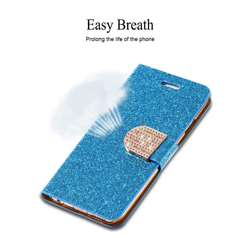 Kisscase dla iphone 5s case glitter bling skórzane etui dla iphone 5 5s se 6 6 s 7 plus stań portfel pokrywa dla iphone 7 7 plus SE 4