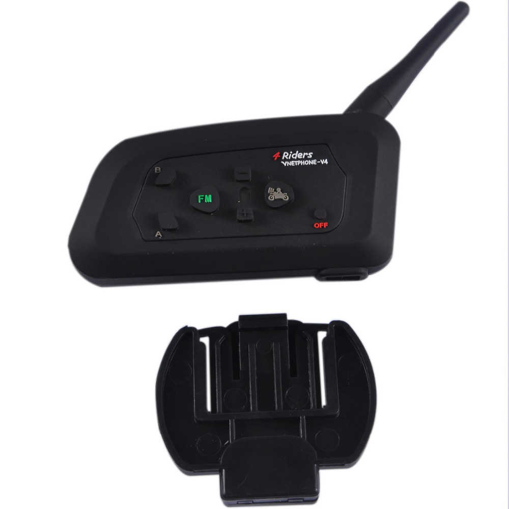 Bluetooth intercom 4 users in Helmet Headsets V4C Earphone Referee Headset Full Duplex Bluetooth Communication System Intercom lexin 2pcs max2 motorcycle bluetooth helmet intercommunicador wireless bt moto waterproof interphone intercom headsets